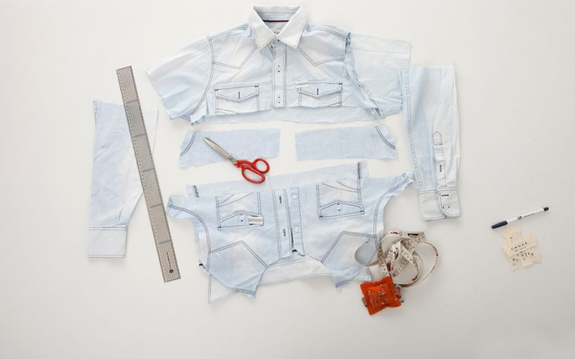 Reclaimed shirts upcycling