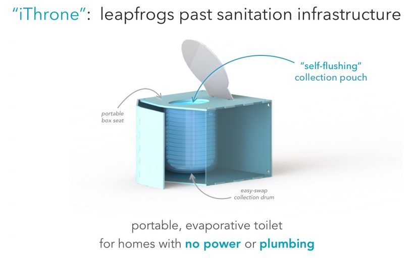 "The iThrone: an evaporative, off-grid toilet that ""shrink-wraps crap"""