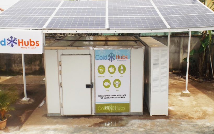 ColdHubs; solar powered walk-in cold rooms, greatly designed to reduce Greenhouse Gas Emissions