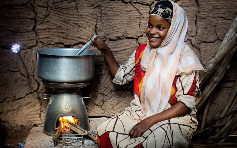 The BioLite HomeStove – the world's only ultra-clean, electricity generating, biomass cookstove.