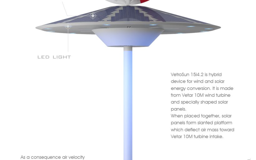 VETROSUN next generation of wind-solar hybrid