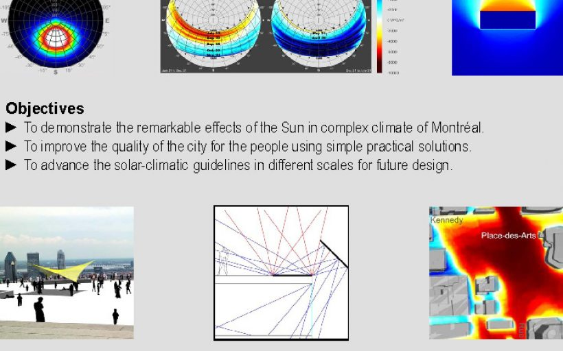 Solar and climate based design and operation