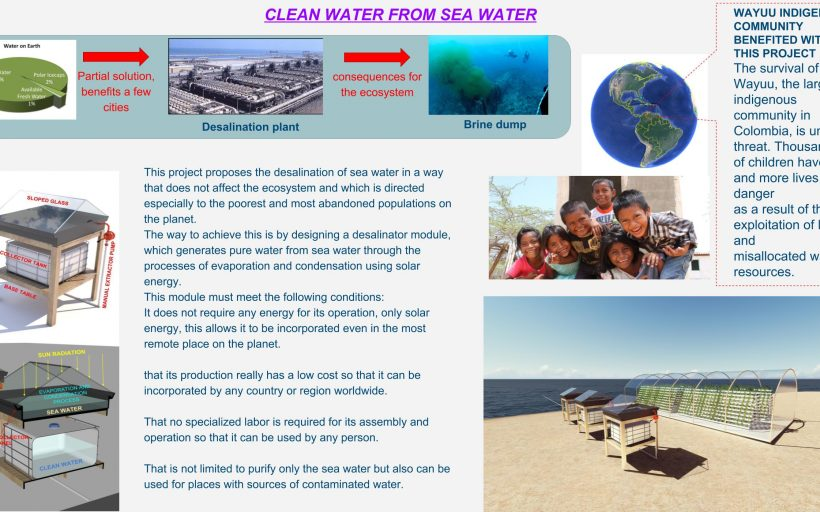 CLEAN WATER FROM SEA WATER