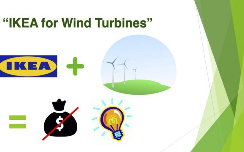 Electric Spokes – IKEA-Innovated, 100% Recycled Wind Turbines
